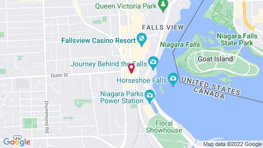 The Tower Hotel Fallsview Map