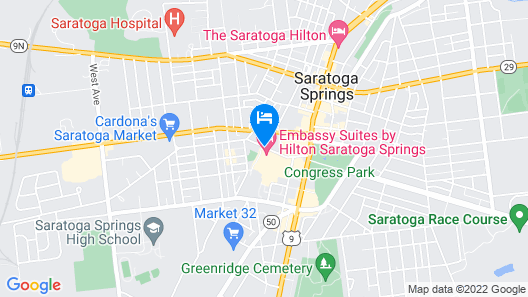 Embassy Suites Saratoga Springs Map