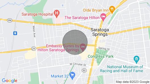 Saratoga Springs Duplex - Walk Downtown Map