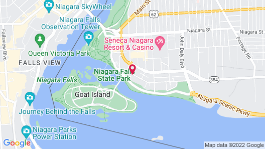 Holiday Inn Niagara Falls Scenic Downtown Map