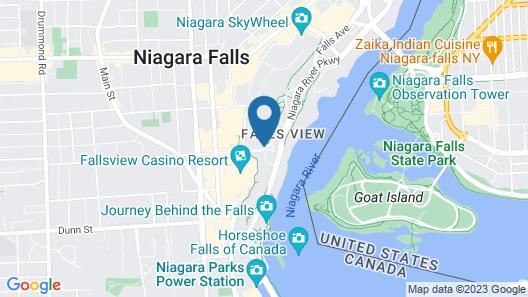 Quality Hotel Fallsview Cascade Map