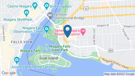 Quality Hotel & Suites At The Falls Map