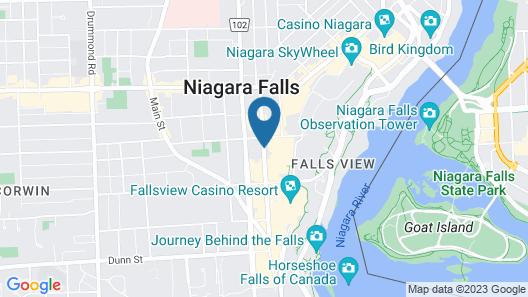 Wyndham Garden Niagara Falls Fallsview Map