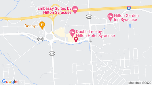 DoubleTree by Hilton Syracuse Map