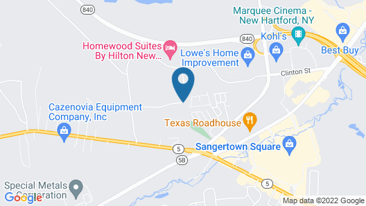 Hampton Inn and Suites New Hartford/Utica Map