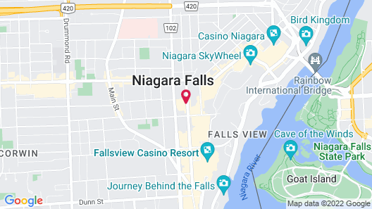 DoubleTree Fallsview Resort & Spa by Hilton Niagara Falls Map