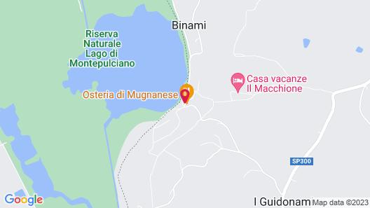 Il Macchione Holiday Home on Lake Montepulciano - La Scaletta Map