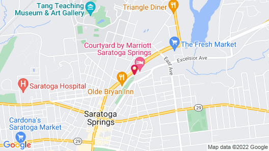 Courtyard by Marriott Saratoga Springs Map