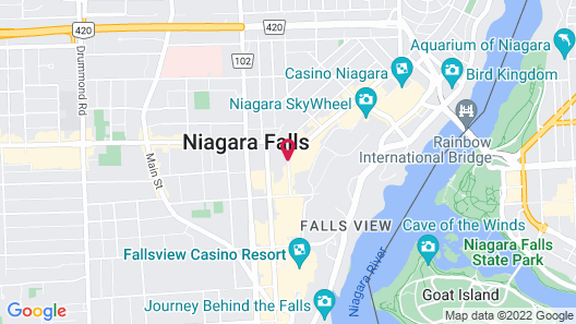 Empress Inn and Suites by The Falls Map
