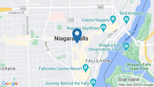 Fairway Inn by the Falls Map
