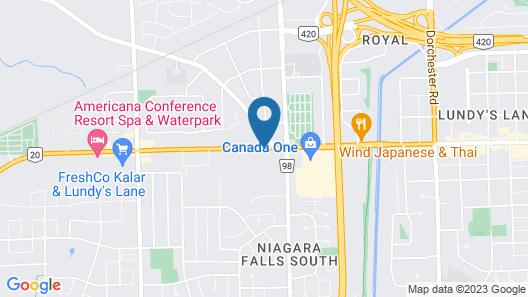 Niagara Lodge & Suites Map