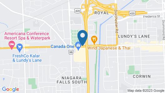 Ramada Plaza by Wyndham Niagara Falls Map