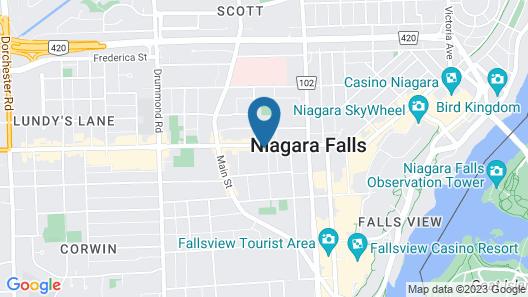 Ramada by Wyndham Niagara Falls Near the Falls Map