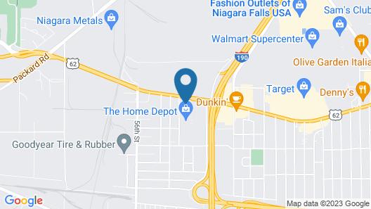 Comfort Inn & Suites Niagara Falls Blvd USA Map