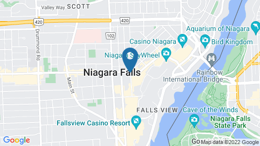 Admiral Inn by the Falls Map