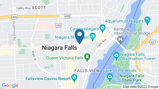 Howard Johnson by Wyndham by the Falls Niagara Falls Map