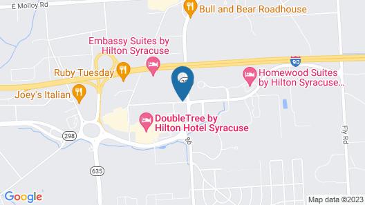 Hampton Inn & Suites Syracuse/Carrier Circle Map