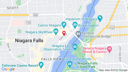 Sheraton On The Falls Hotel Map