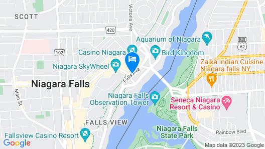 Sheraton On The Falls Hotel Map