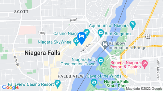 Travelodge by Wyndham Niagara Falls at the Falls Map