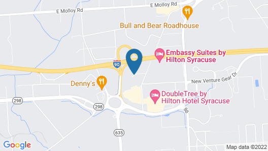 Courtyard Syracuse Carrier Circle Map