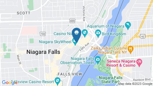 Thriftlodge Niagara Falls at the Falls Map