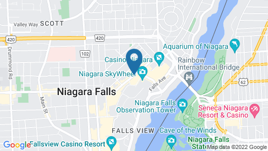 Econo Lodge By The Falls Map