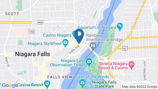 Crowne Plaza Niagara Falls Fallsview Map