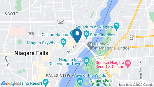 Crowne Plaza Niagara Falls Fallsview, an IHG Hotel Map