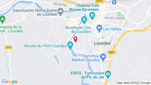 Hôtel Alliance Lourdes Map