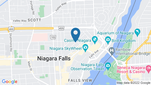 Days Inn & Suites by Wyndham Niagara Falls Centre St. By the Falls Map