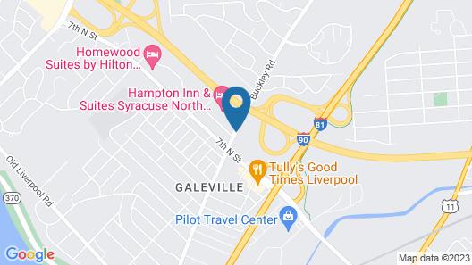 Hampton Inn & Suites Syracuse North Airport Area Map