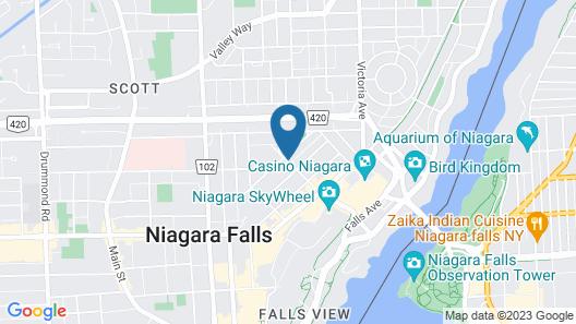 Oasis Motel Map