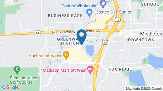 Hilton Garden Inn Madison West/Middleton Map