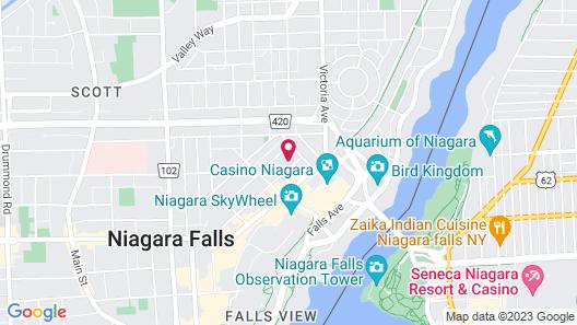 Super 8 by Wyndham Niagara Falls by the Falls Map