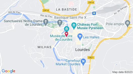 Hotel Saint Avit  Map