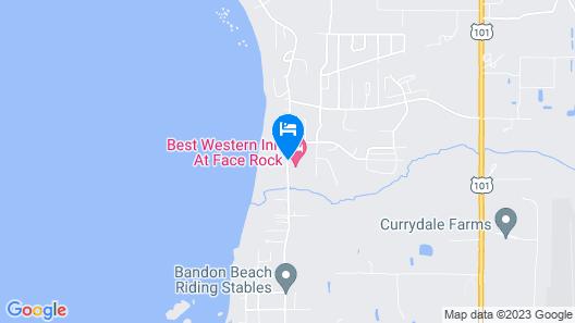 Best Western Inn At Face Rock Map