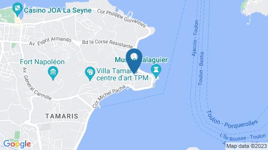 Villa les Terrasses Map