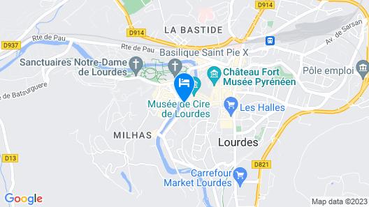 Mercure Lourdes Imperial Map