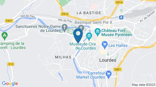 HELGON HOTEL – LOURDES PYRENEES Map
