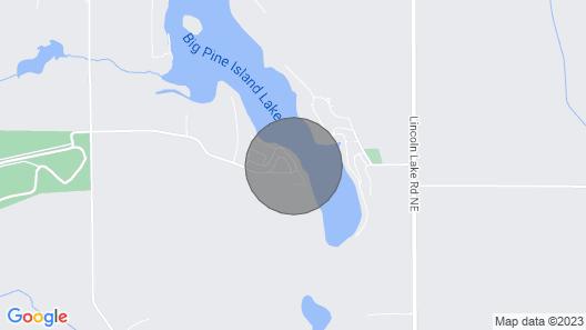 The Hangout hot tub Cottage on Big Pine Island Lake Map