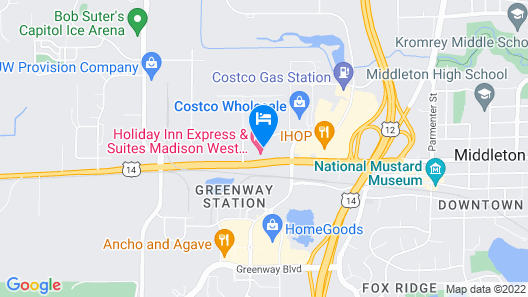 Holiday Inn Express And Suites Madison West - Middleton Map