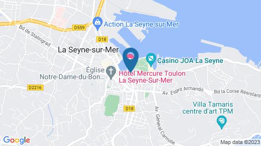 Hôtel Mercure Toulon La Seyne-Sur-Mer Map