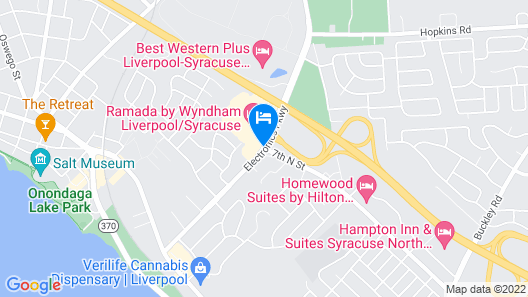 Holiday Inn Syracuse-Liverpool-Exit 37 Map