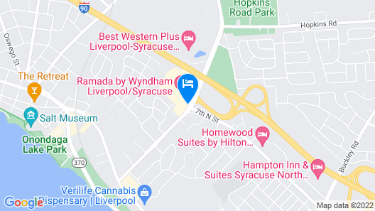 Holiday Inn Syracuse-Liverpool-Exit 37, an IHG Hotel Map