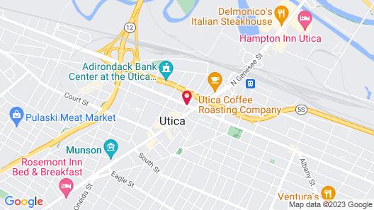 DoubleTree by Hilton Utica Map