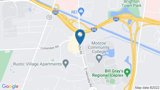 Country Inn & Suites by Radisson, Rochester-University Area, NY Map