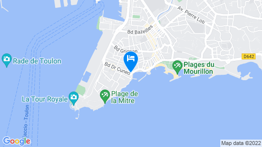 Best Western Plus La Corniche Map