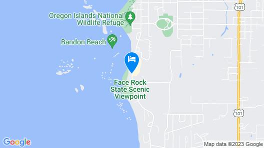 Sunset Oceanfront Lodging Map