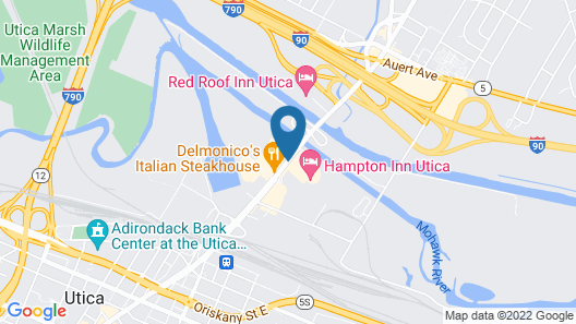 Hampton Inn Utica Map